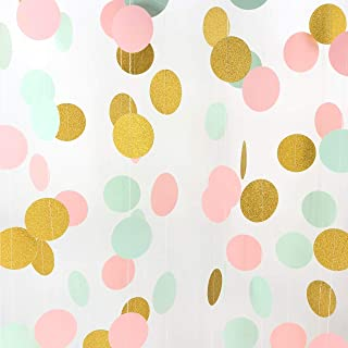 mint pink and gold party supplies