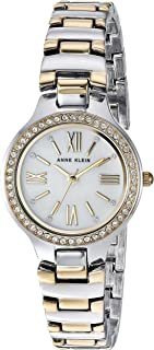 Anne Klein Women's AK/3195MPTT Swarovski Crystal Accented Two-Tone Bracelet Watch