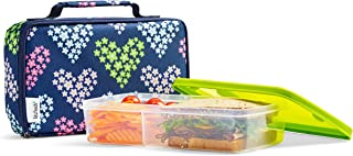 Fit & Fresh Insulated Bento Box Lunch Kit, Navy Hearts