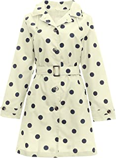 Capelli New York Ladies Mid Length Spotted Trench Rain Coat