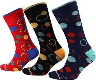 Viyella 3 Pair Pack Striped Circles Wool Socks