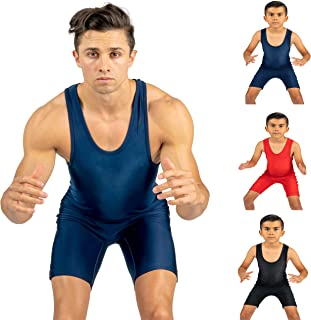 4 Time All American Solid Navy Blue Wrestling Singlet Size XL