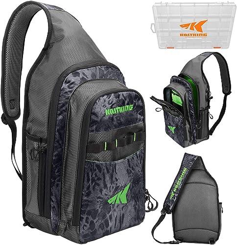 KastKing Pond Hopper Fishing Sling Tackle Storage Bag – Lightweight Sling Fishing Backpack - Sling Tool Bag for Fishi...
