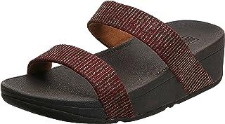 FitFlop Lottie Glitter Stripe Slides womens Sandal