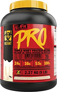 Mutant Pro – Triple Whey Protein Supplement – Time-Released for Enhanced Amino Acid Absorption – 2.27 kg – Vanilla Milkshake
