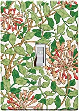 3-D Effect Printed Maxi William Morris Honeysuckle Pattern Switch/Outlet Cover L0054 (1-gang toggle)