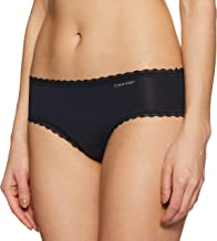 Calvin Klein Women's Plain/Solid Stretch Mid-Rise Lace Band Flirty Hipster Brief