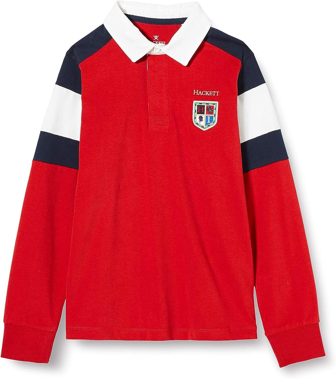 Hackett London Boys Panel Sh Rugby Y Polo Sweater