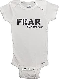 Fear Onesie Funny Baby Punk Rock & Roll Pajamas Bodysuit PJ L.A. Hardcore Baby