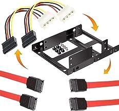 NISUN Bracket Mounting Kit Dual 2.5 Inch Internal Hard Drive Holder SSD/HDD Metal Tray Bracket - 35252
