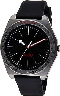 Hugo Boss Men's Black Dial Black Silicone Watch - 1530104