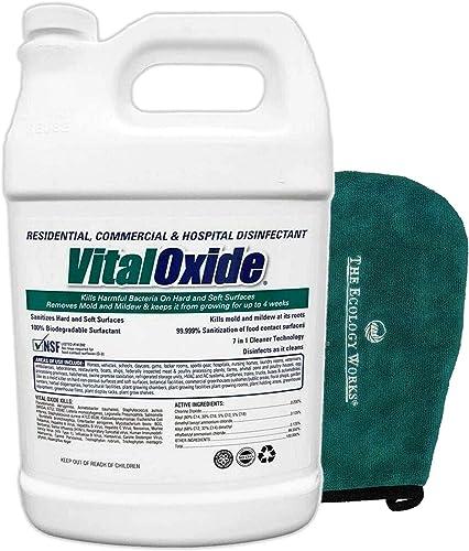 Vital Oxide Disinfectant, Deodorizer, Cleaner, Food-Contact Sanitizer – Kills Mold & Mildew, Eliminates Odors – Indus...