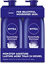 nivea essentially enriched body lotion on face