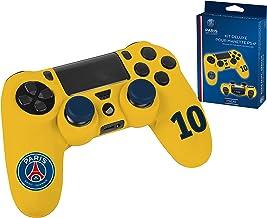 Accessoireset voor PS4-controller, beschermhoes van zacht zweetbestendig siliconen en sticker voor lichtbalk PSG Paris Sai...