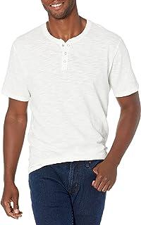 Men's Short Sleeve Worn Wash Henley Shirt