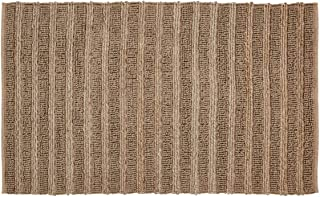 VHC Brands Natural Laila Farmhouse Solid Color Jute Rectangle Doormat Area Accent Rug Assorted Sizes Cotton Looped, Rect 3...