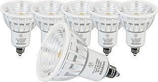 Abishion 5.5W E11口金 電球色2700K LEDスポットライト高演色Ra95 50W-60W形相当LED電球 550lm ハロゲンランプ 屋内用 LEDライト配光角90°調光不可、2年保証.(6個セット)