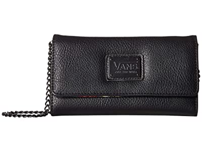 Vans Chained Reaction Wallet (Black/Botanical Check) Wallet Handbags