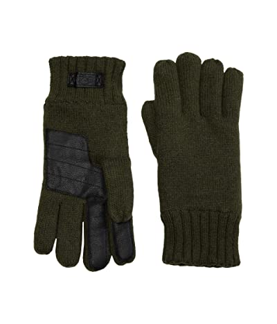 UGG Knit Gloves with Tech Leather Palm (Eucalyptus Spray) Extreme Cold Weather Gloves