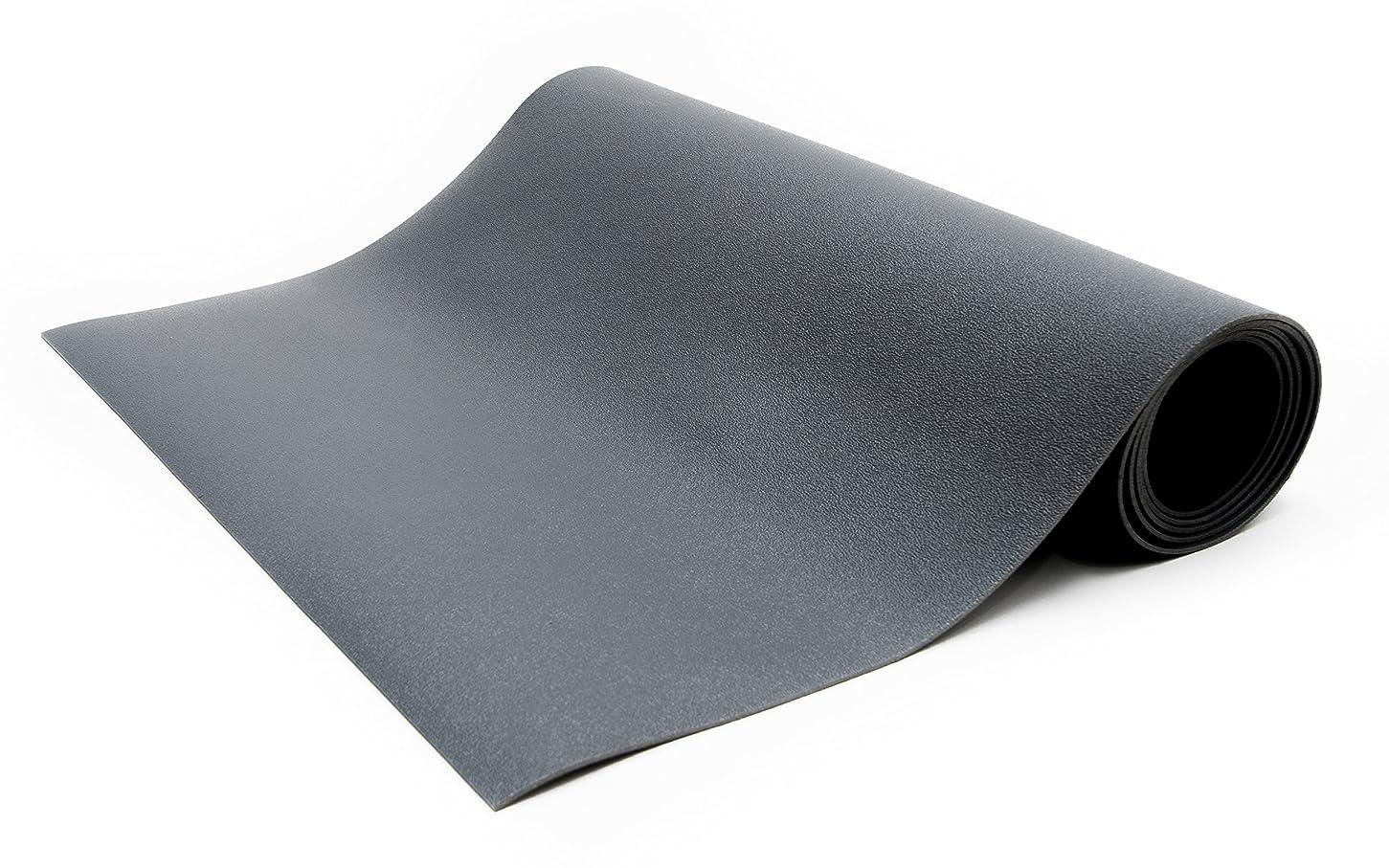 キャメルダム落ちたBertech ESD 椅子マットロール 厚さ0.375インチ グレー 3' Wide x 10' Long x 0.190