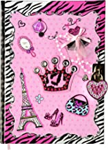 SMITCO Girls Diary - Secret Hardcover Writing Journal Book for 5 to 10 Year Old Girls with 300 Double-Sided Lined Pages, a Heart Shaped Lock and 2 Silver Keys to Keep Her Dreams Safe