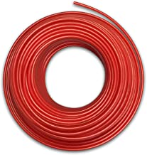 Food Grade 1/4 Inch Plastic Tubing for RO Water Filter System, Aquariums, Refrigerators, ECT (30 Feet, Red)