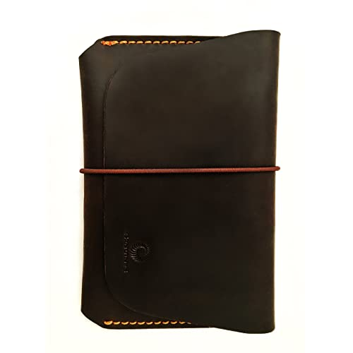 8e545c24fb Leather Passport Holder for Men   Women - Genuines Wallet Case for 1 or 2  Passports