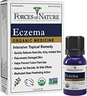 Forces of Nature – Natural, Organic Eczema Care (11ml) Non GMO, No Harmful Chemicals or Steroids –Relieve Dry, Itchy, Red,...