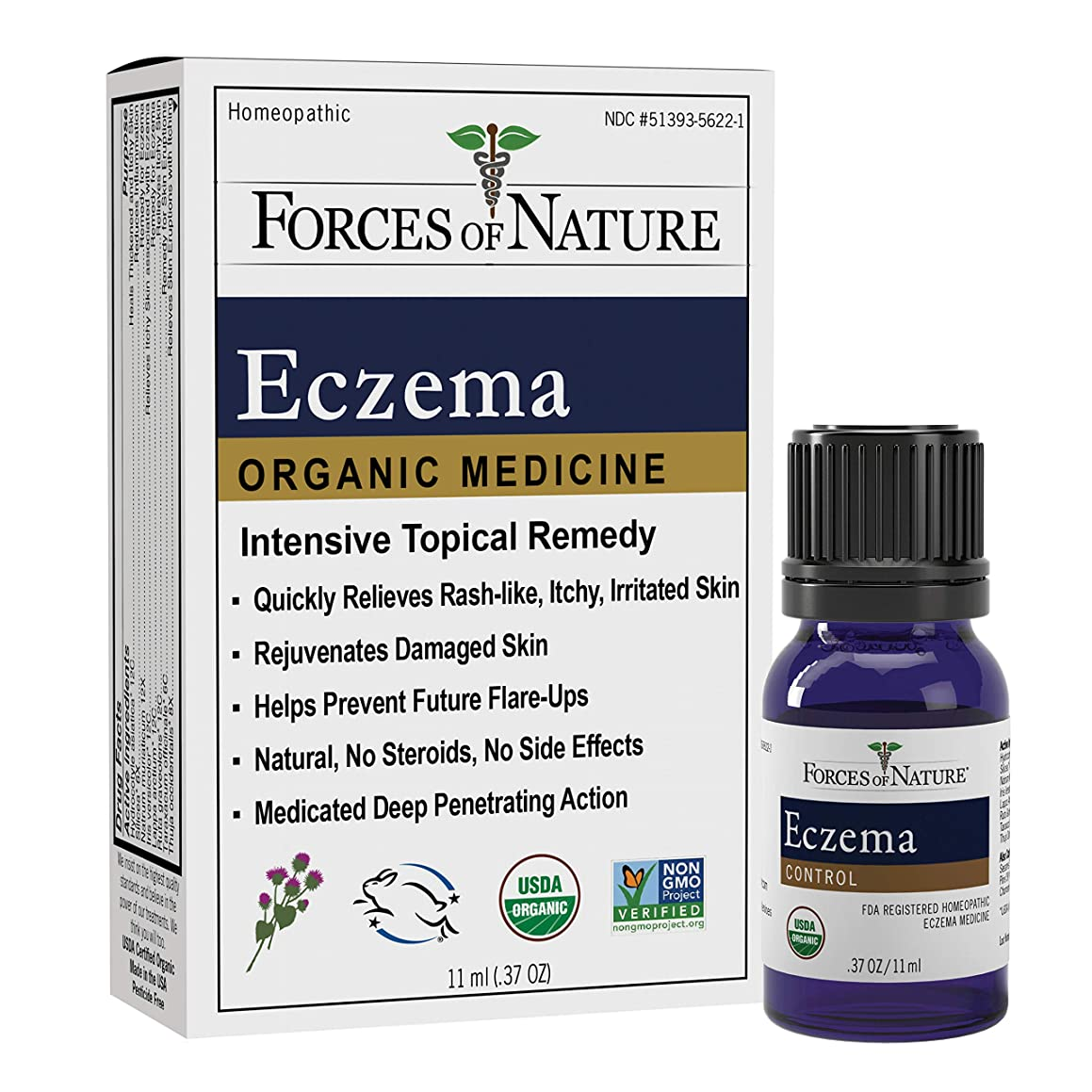 Forces of Nature | Eczema Control | Certified Organic | FDA-registered | Pharmaceutical Strength | 11ml (Pack of 1)