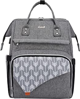 [Upgraded] Laptop Backpack, LOVEVOOK Laptop Bag for Women Computer Bag for Work School Travel, Teacher Nurse Backpack Stylish Backpack Purse Bookbag, 15.6-Inch, B-Grey
