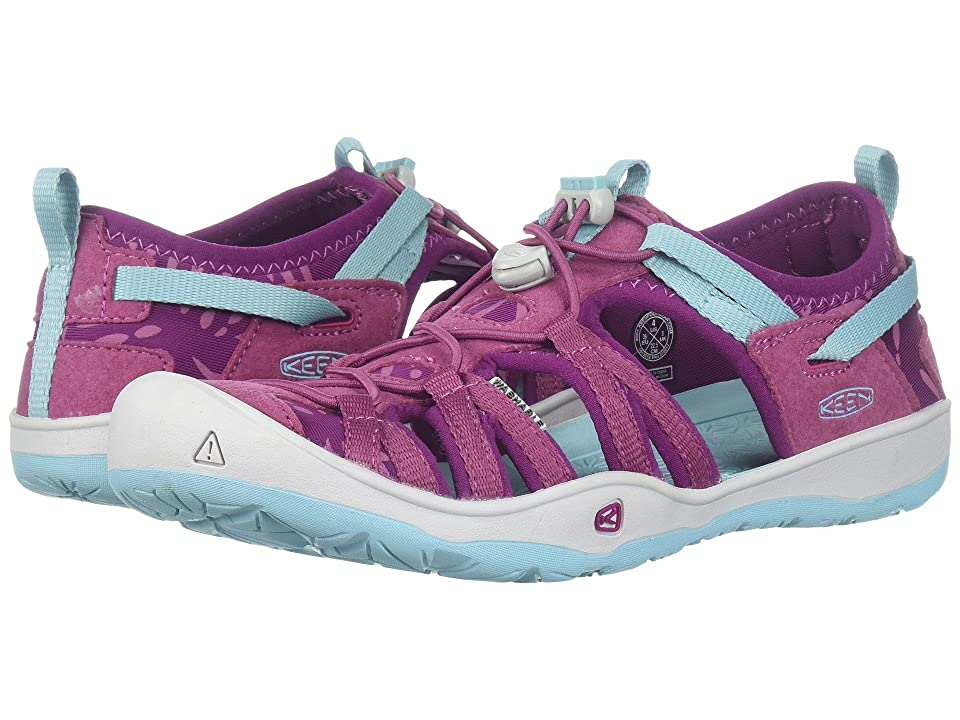 Keen Kids Moxie Sandal (Little Kid/Big Kid) (Red Violet/Pastel Turquoise) Girl