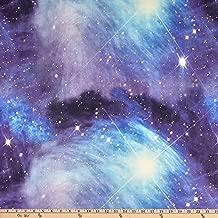 Fabric Merchants Double Brushed Poly Jersey Knit Galaxy Blue Fabric