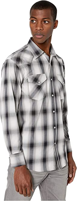 White/Grey/Black Plaid