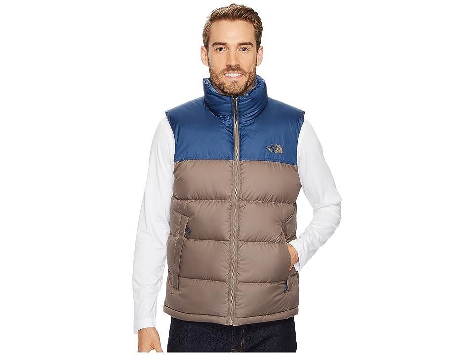 The North Face Nuptse Vest (Falcon Brown/Shady Blue) Men