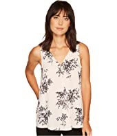 Vince Camuto - Sleeveless Delicate Bouquet V-Neck Drape Front Blouse