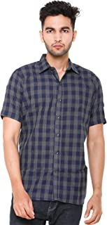 EASY 2 WEAR ® Men Checks Shirts Plus Size - Half Sleeves (S to 5XL) Comfort/Regular FIT Shirts