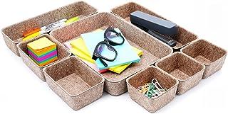 Welaxy Drawer organizers trays Felt storage bins office Desk Draw organizer dividers Morandi Colors Nordic Lifestyle Natur...