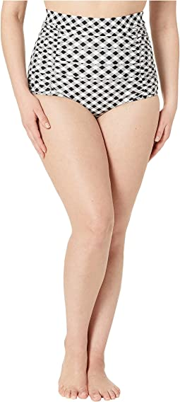 Plus Size Monroe High-Waist Swim Bottoms