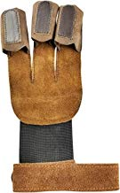 ALLNESS INC Archery Glove Leather Three Finger for Bow Arrow Shooting