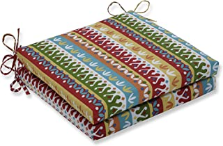 """Pillow Perfect Outdoor/Indoor Cotrell Garden Square Corner Seat Cushions, 20"""" x 20"""", Multicolored 2 Pack"""