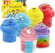 Luckyunicorn 6 Pack Slime, Butter Slime- Stitch, Cherry , Pineapple and Coffee Slime, Cloud Slime-Unicorn and Rainbow Slim...