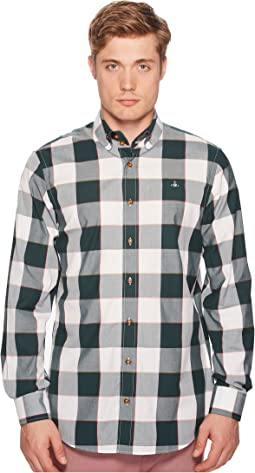 Two-Button Krall Gingham Shirt