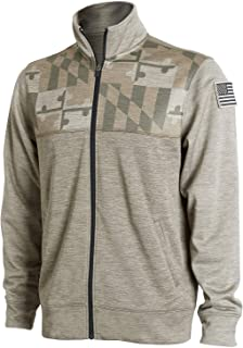 MD Flag Special Edition Military & Law Enforcement Full- Zip Gift Sweatshirt