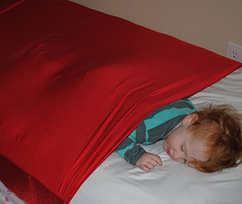 Compression Sheet Custom Sized for Toddler and Twin Sized Mattresses. SnugBug Sensory Sheet.