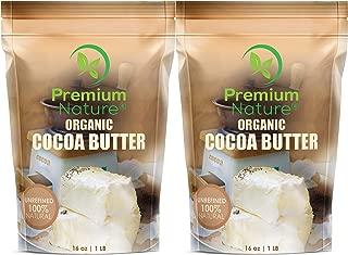 Organic Pure Raw Cocoa Butter - Unrefined Natural Vegan Cacao Bar Anti Aging Body Lotion Pregnancy Belly Stretch Mark Cream Eczema Skin Care Soap Making Coco Lip Balm Stick Base