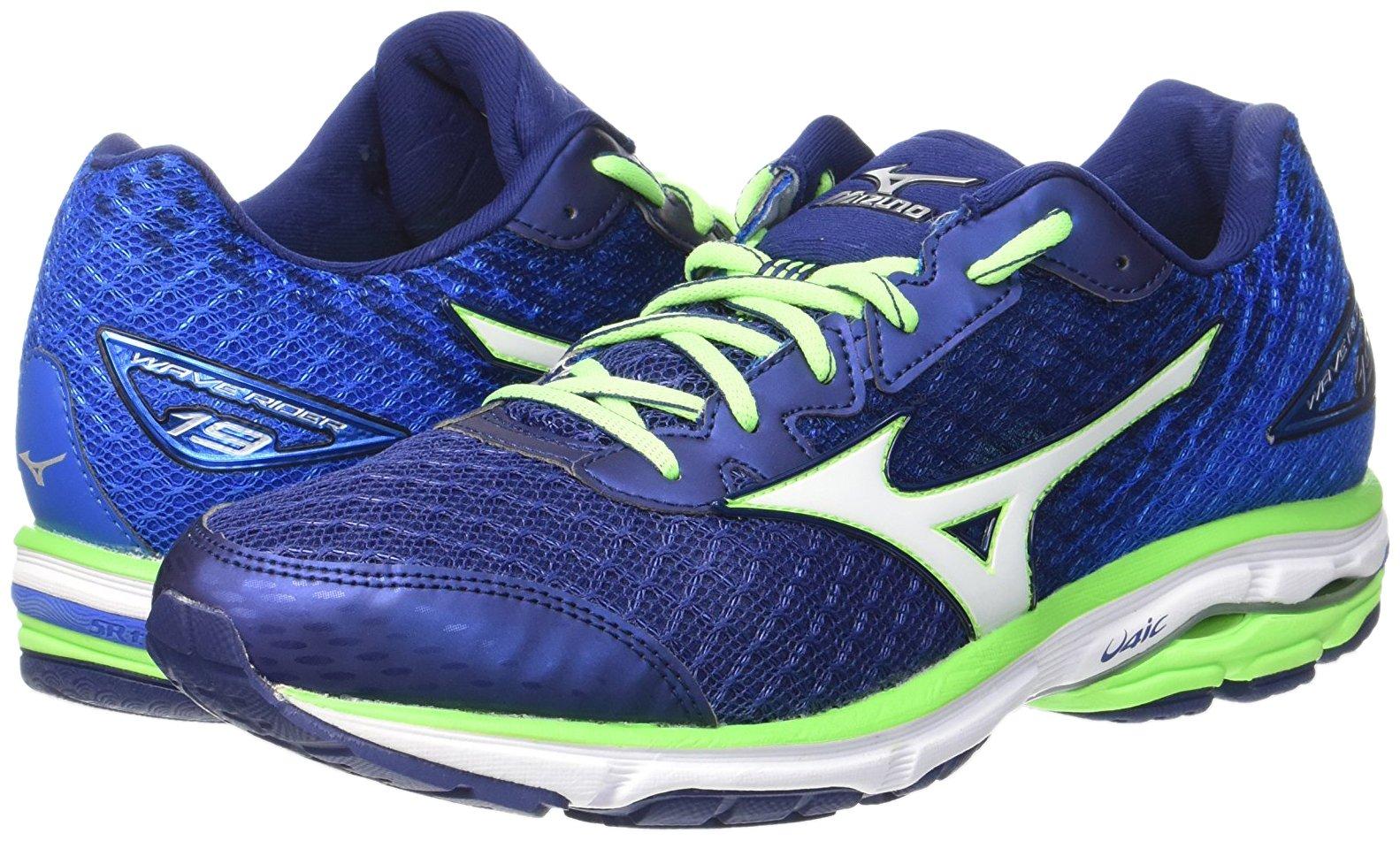 Mizuno Wave Rider 19, Zapatillas de running para hombre, azul (twilight blue/silver/green gecko), 40.5 EU: Amazon.es: Deportes y aire libre