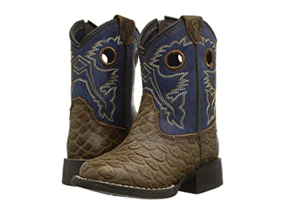 M&F Western Kids Orlando (Toddler) (Brown/Blue) Boys Shoes