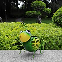 Solar Animal Lights, Metal Grasshopper Statuette with Multi-Colors Changing Solar Powered LED Lights,Outdoor Figurine for Garden Decor Courtyard Patio Decoration and Ornament