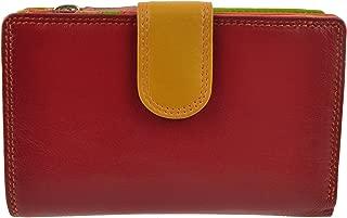 Women's Tab Medium Leather Purse Wallet By Graffiti Gift Box Spice