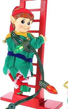 "Mr. Christmas 40"" Super Climbing Elf, inch, Red"